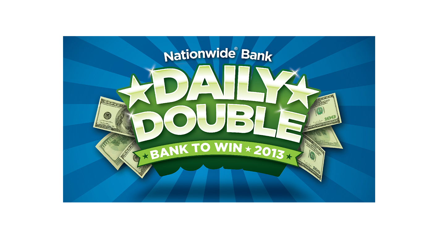 This Nationwide Bank promotional logo was designed to capture the excitement of the sweepstakes by leveraging a dynamic, dimensional design. The use of brand colors helped unify a wide range of creative elements and executions.