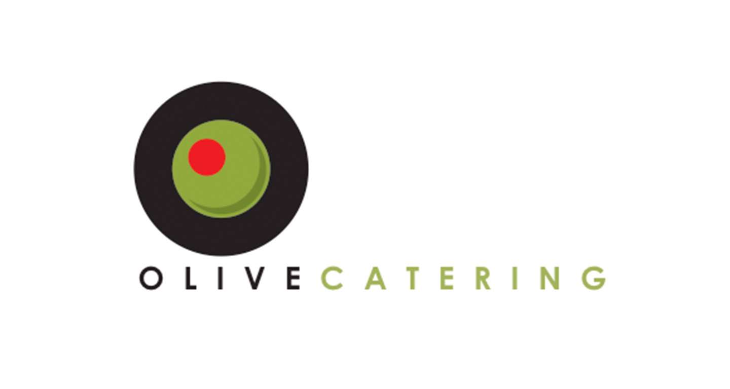We designed this identity and branding for this catering company. The simple olive icon and symbol compliments the clean, two-toned typography treatment.