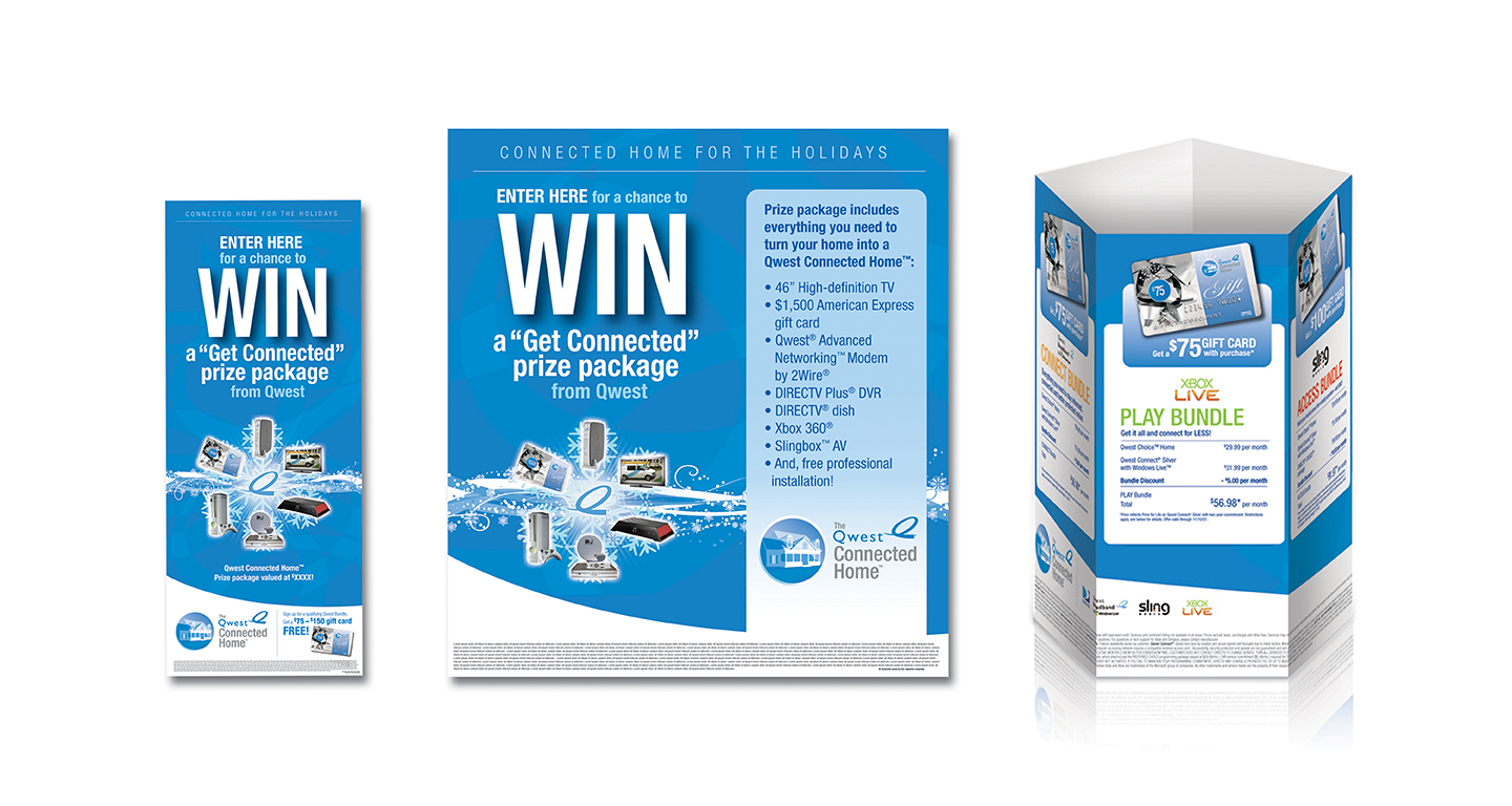 In order to drive traffic to the EPOD kiosk during the high-traffic holiday season at shopping malls, we created signage and collateral for a sweepstakes and gift-with-purchase opportunity.